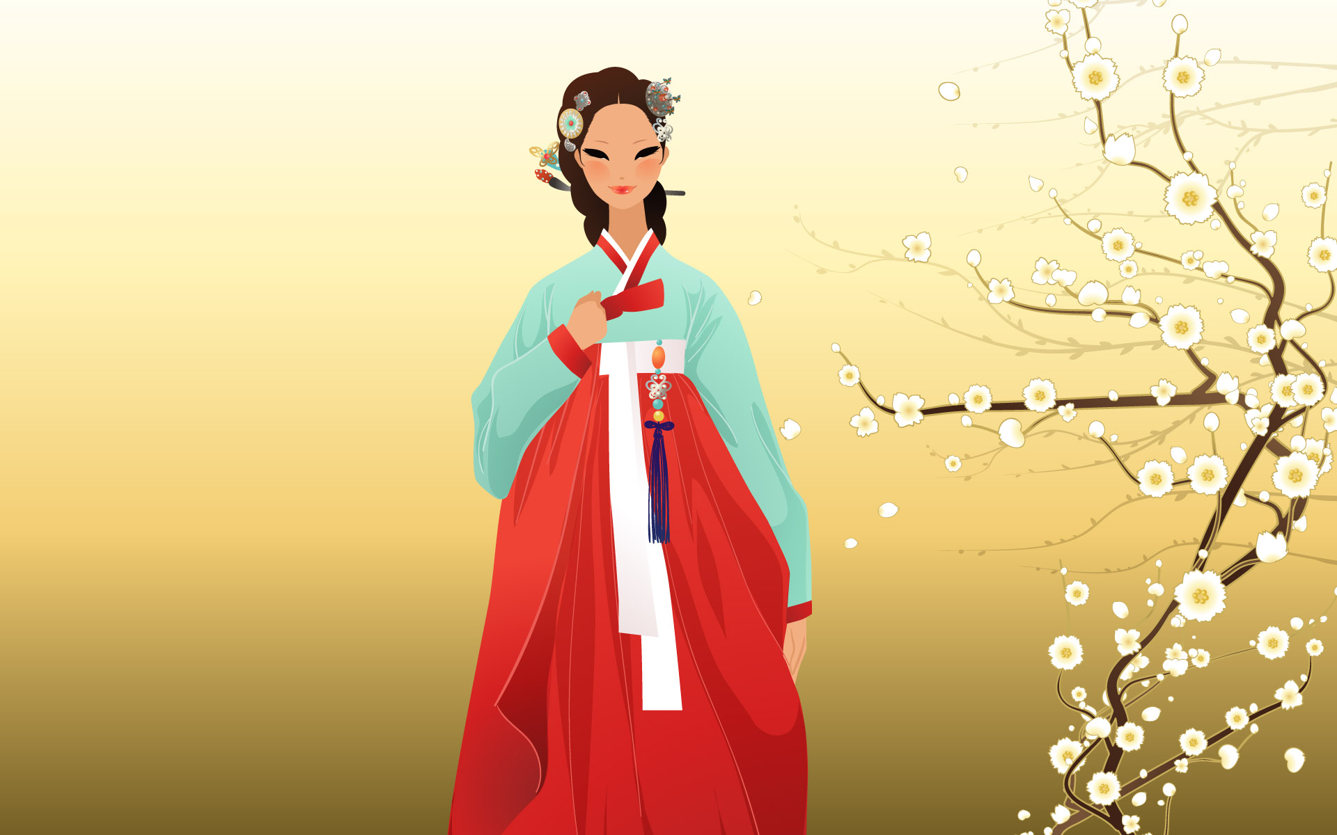 手绘朝鲜族插画简介(40P)[中国PhotoShop美女身资源美女头八图片