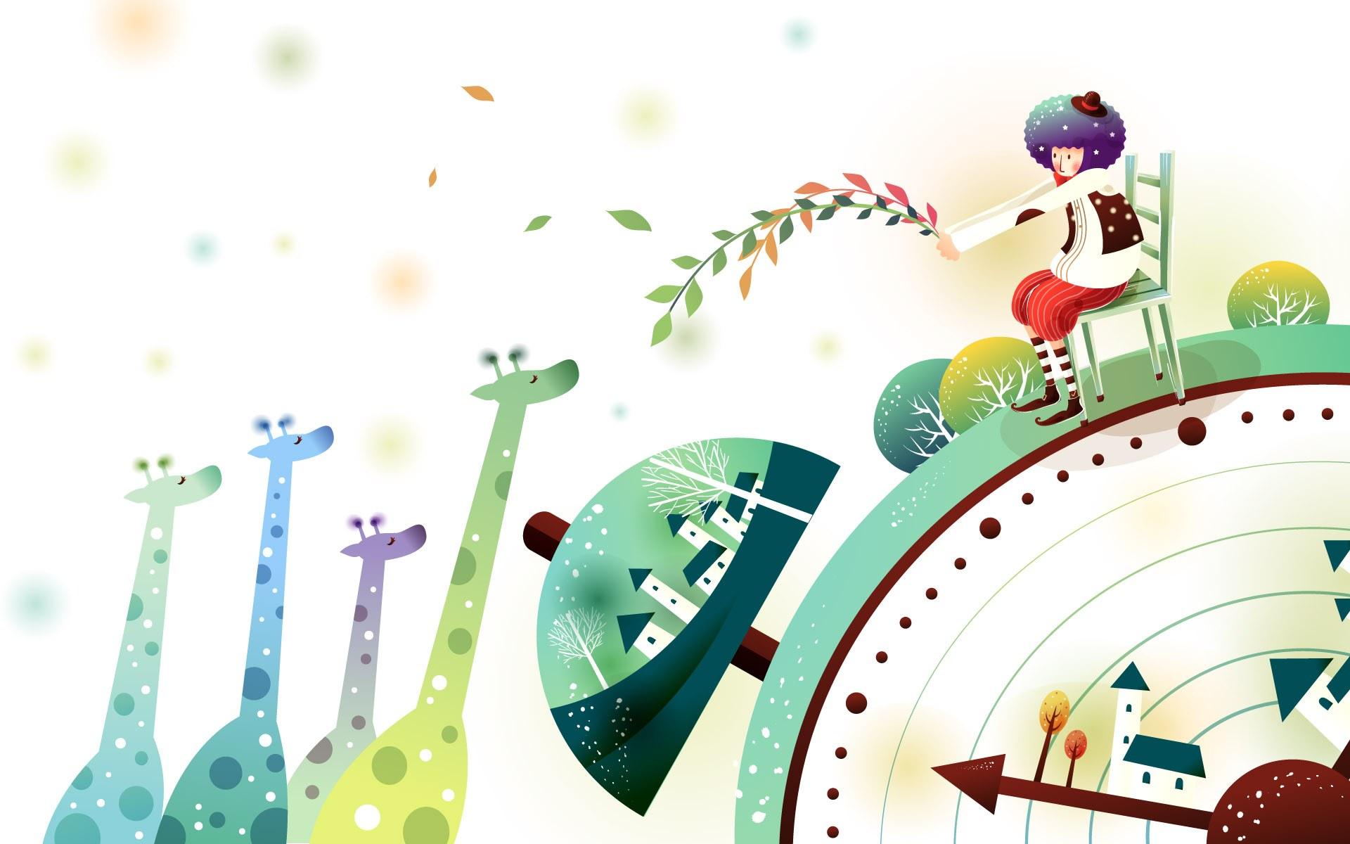 韩国儿童卡通插画背景ps素材 40p 中国photoshop资源网 Ps教程 Psd模板 照片处理 Ps素材 背景