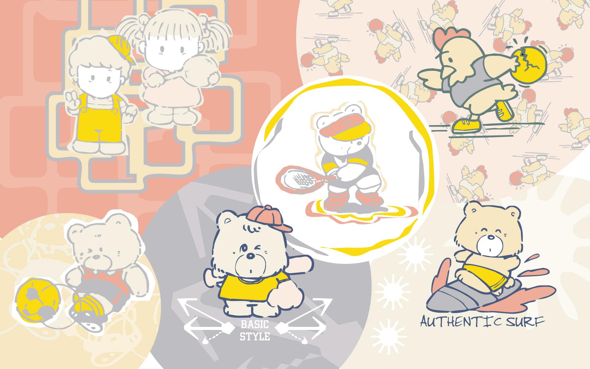 可爱的卡通人物背景图片素材专辑1(20p)