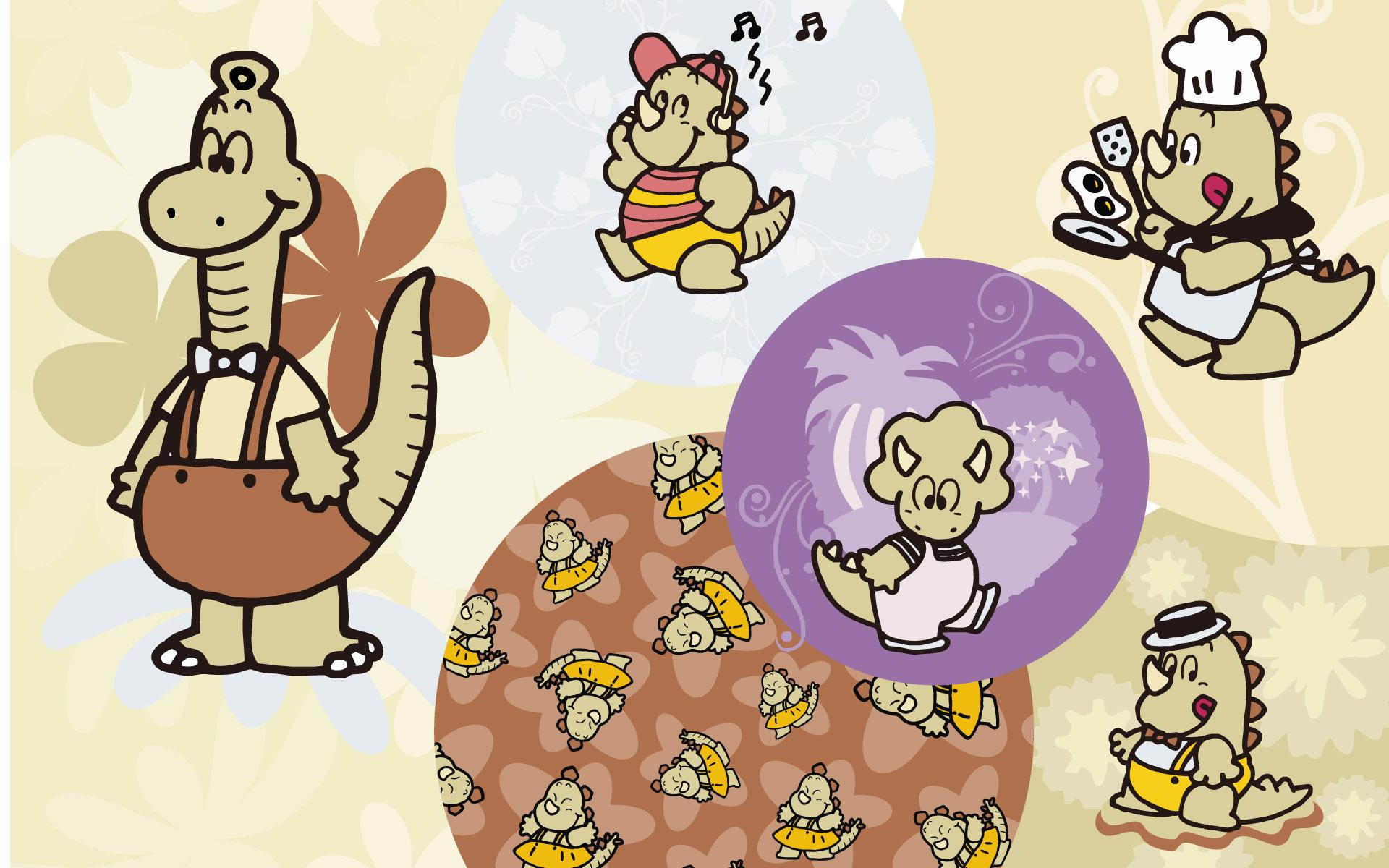 可爱的卡通人物背景图片素材专辑2(20p)[中国资源网