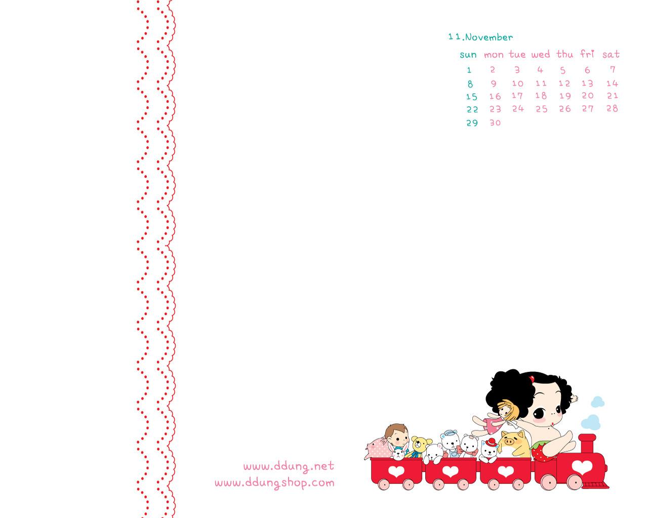 可爱的迷糊娃娃卡通月历壁纸图片素材(20p)[中国资源