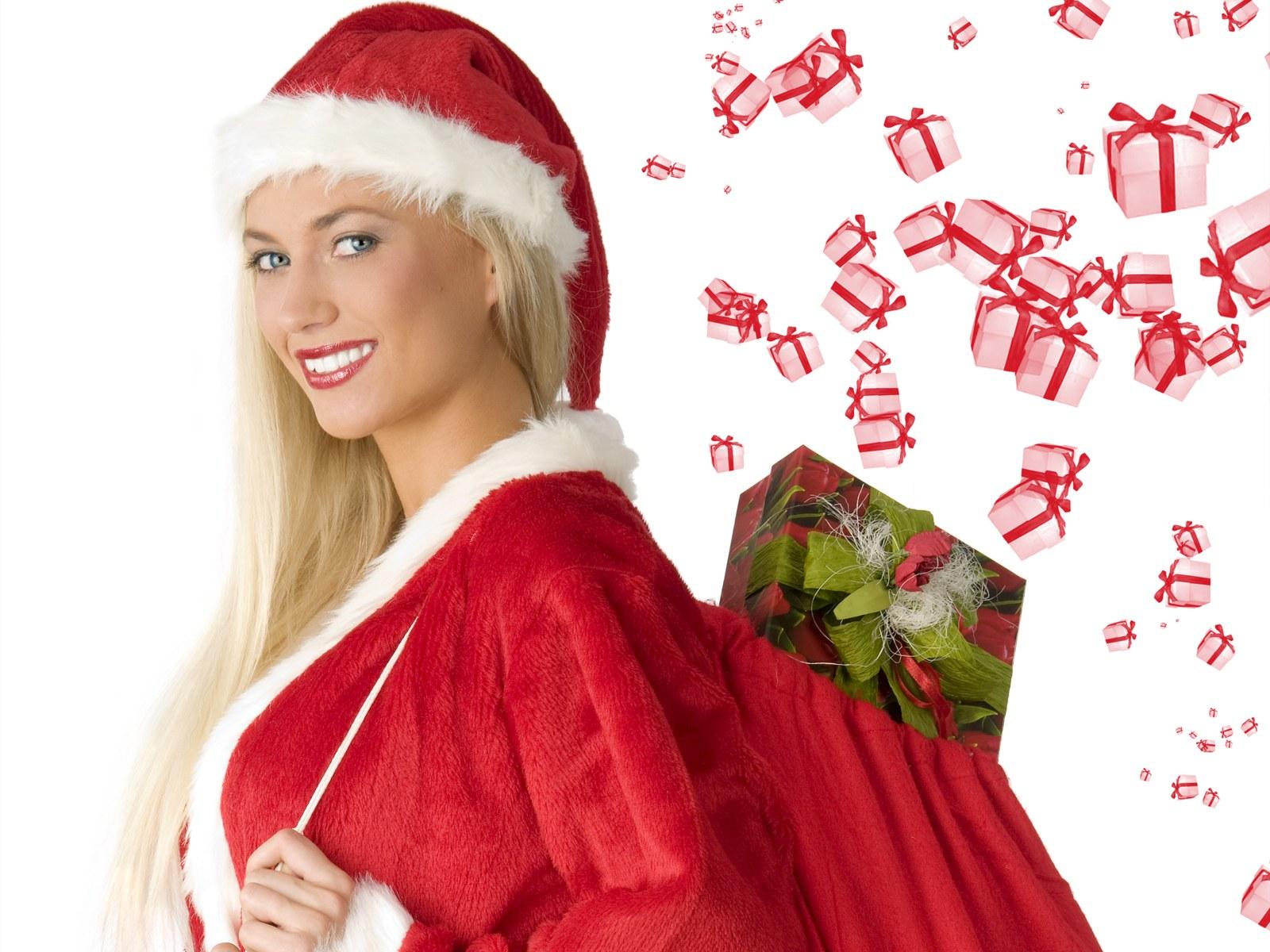 活泼可爱的圣诞广告美女模特图片素材(28p)[中国资源