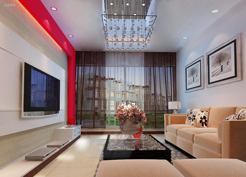 家居生活客廳裝修效果圖高清素材1(20p)[中國資源網