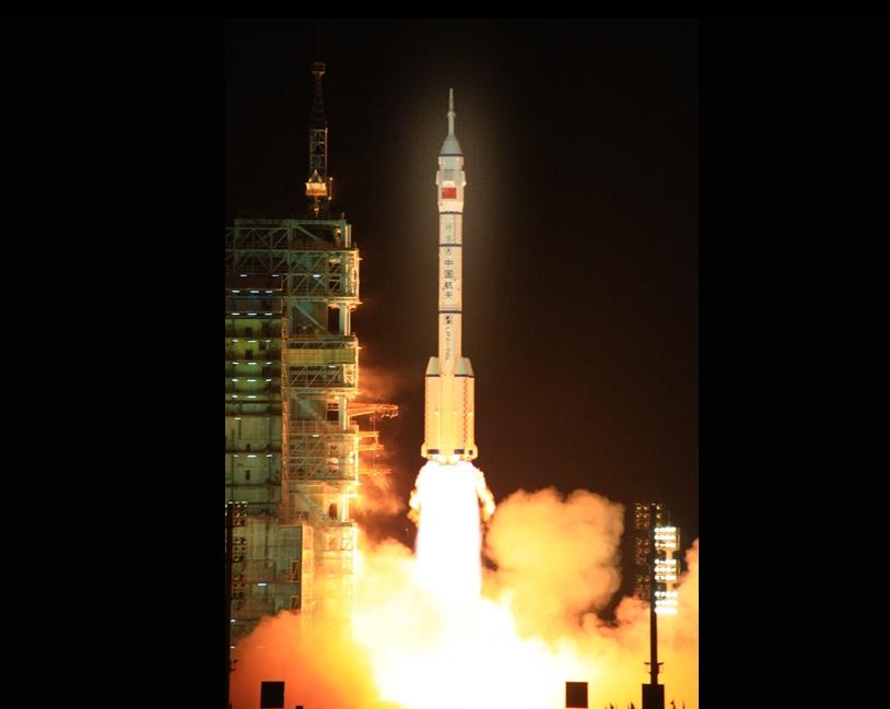 神舟七号发射升空现场图片素材(12p)[中国photoshop