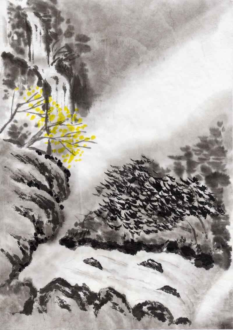 影楼古装后期常用中国风水墨背景素材大全共98P