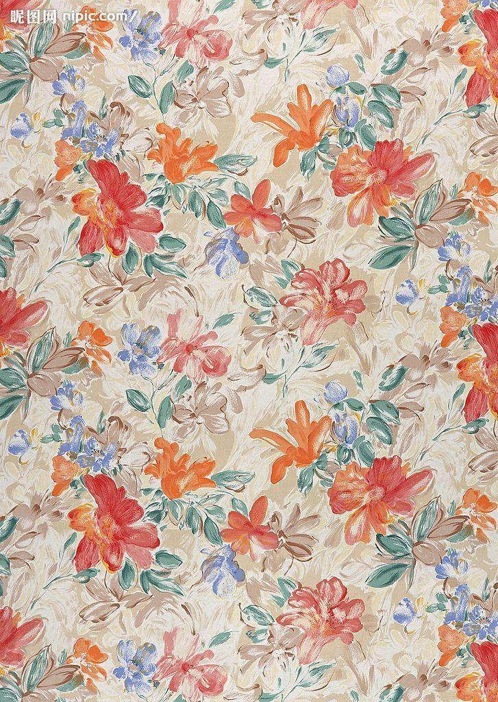 东北 花棉袄 常用的中国传统风格小碎花布纹 素材