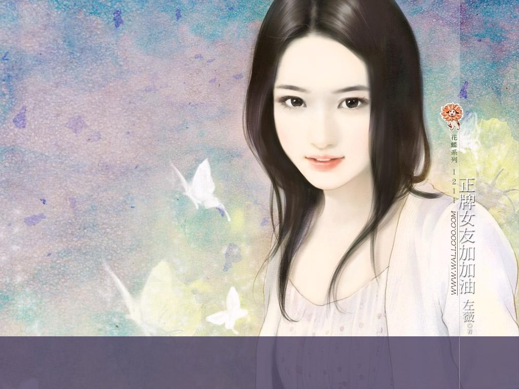手绘言情小说封面美女作品欣赏 33P图片