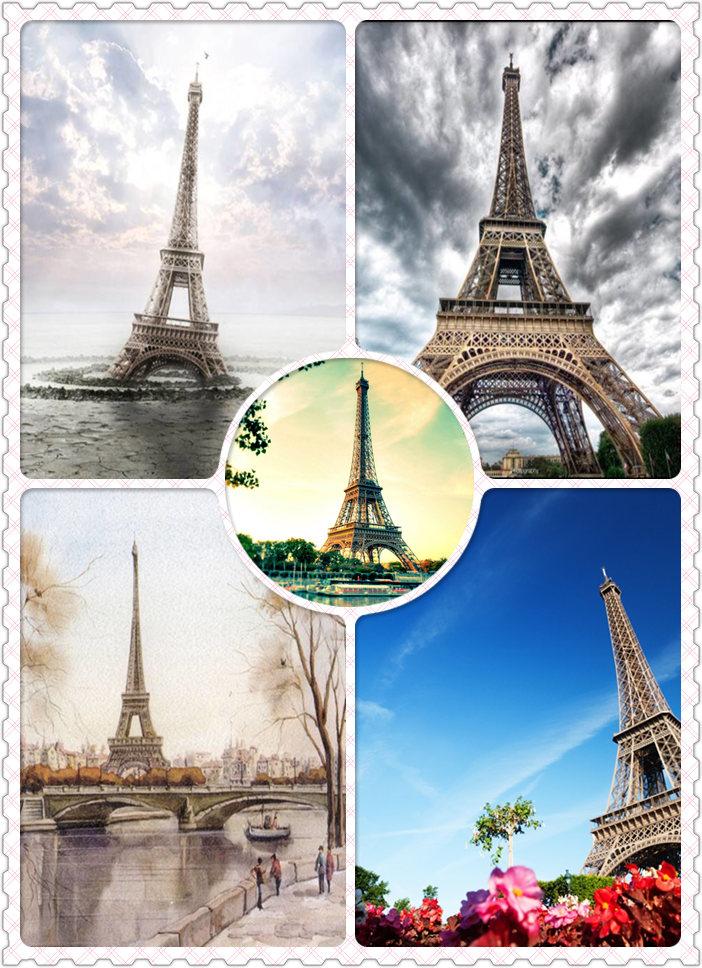浪漫之都法国巴黎埃菲尔铁塔高清图片素材专辑(25p)