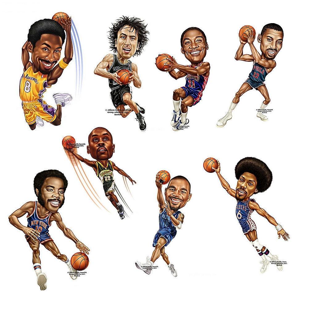 ps把一张图片做卡通的-2015最新 烫画 图案 图片素材 库 NBA 卡通人物