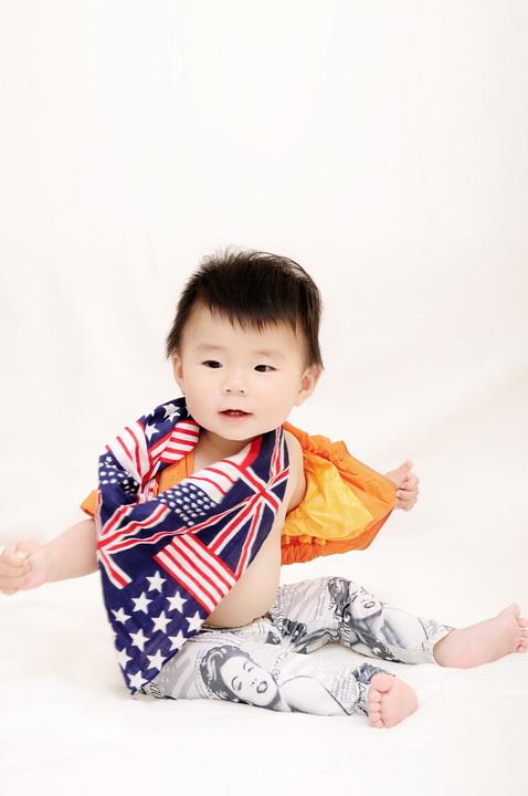 非常可爱的2岁宝宝影楼样片糖粒粒系列全套 23P