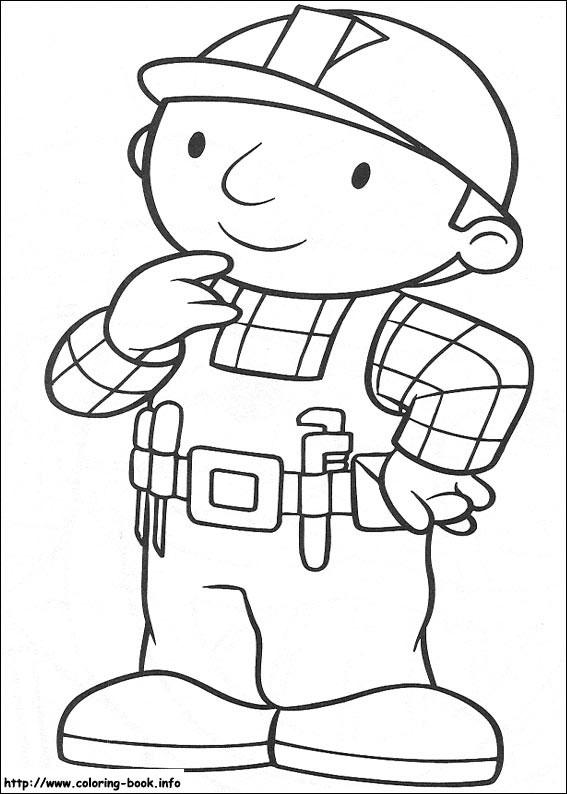 儿童涂色卡通漫画线稿图片《小小建筑师》系列全套30p