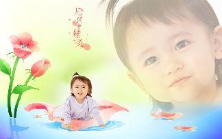 {精灵宝贝}宝宝样片psd素材免费下载九 [中国P