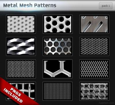 15只金属材质ps网纹填充图案下载.pat