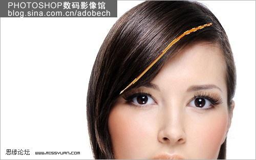 photoshop为美女染出绚丽碎花美女[中国photo效果裙长发图片