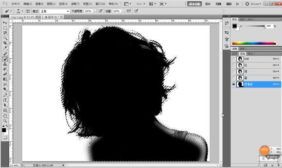 简简单单纯色背景PhotoShop通道抠图练习