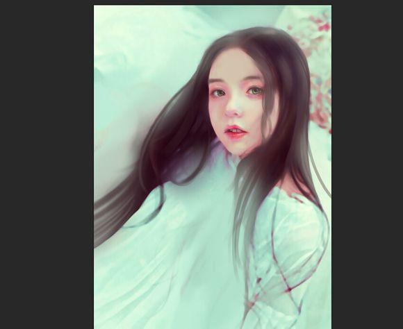 photoshop为中国古典美女照片转手绘效果的教程[中国