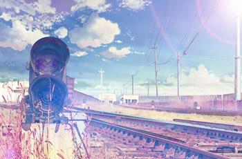 ps 光晕滤镜和卡通天空素材把风景照片转为动漫效果