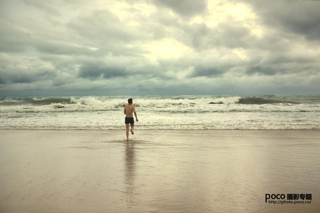 大场景简洁的海滩摄影构图技巧的一点心得图片