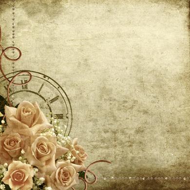 高清质感怀旧剪贴风花朵照片边框背景素材图片下载1