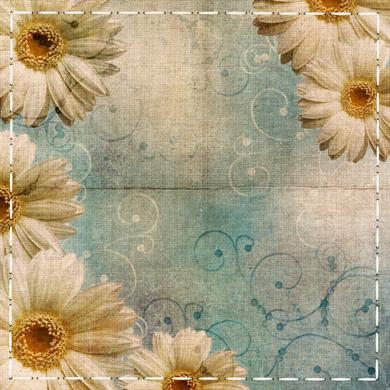 高清剪贴风花朵质感怀旧照片边框背景素材图片下载6