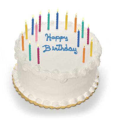 白底插上蜡烛的生日蛋糕素材高清图片下载
