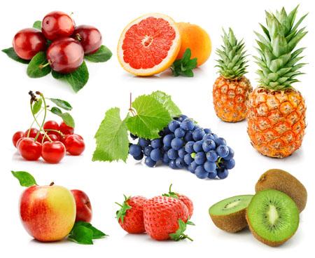 白底多款高清水果设计素材图片下载