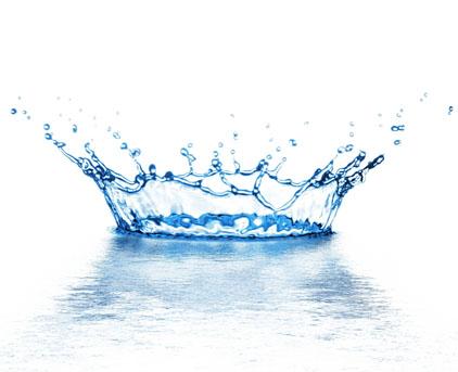 白背景皇冠形状水滴飞溅素材高清图片下载