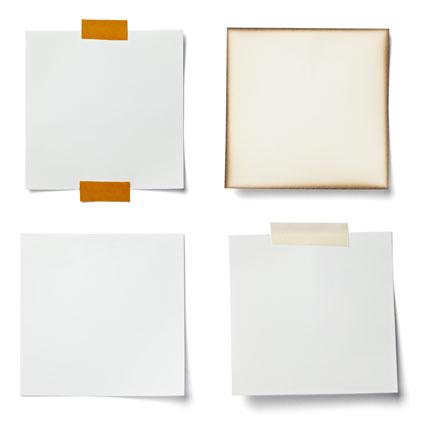 白背景胶布贴着的纸张素材高清图片下载