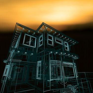 高层住宅区效果图psd分层素材-ps建筑效果图
