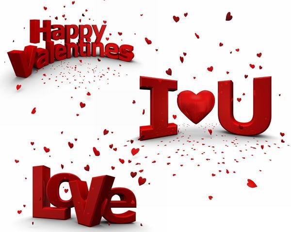 情人节快乐红色love3d文字高清图片素材下载 3张 [中国photoshop资源