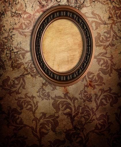 欧式古典椭圆画框花纹背景素材高清图片下载