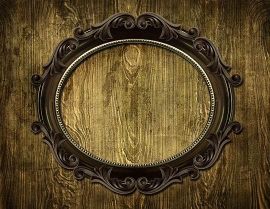 欧式雕花纹边框木纹肌理背景高清图片素材下载