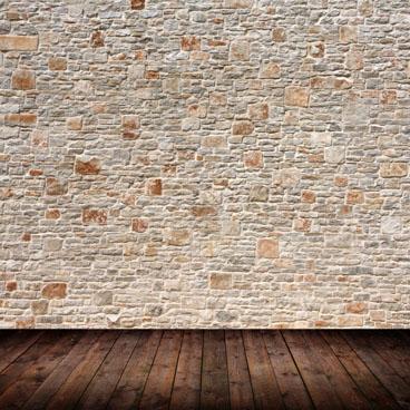高清木板地面砖墙背景空间场景设计素材图片下载