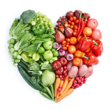 高清蔬菜水果创意心形图片素材下