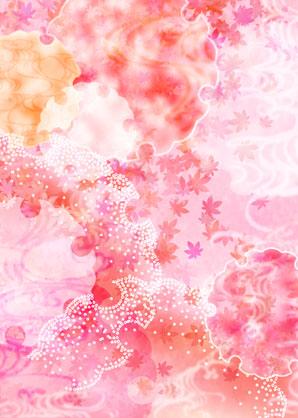 春天的花朵蝴蝶清新背景素材高清图片下载