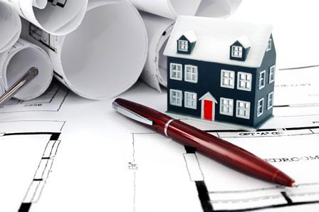 房子建筑施工图纸与3d模型图片高清素材下载2
