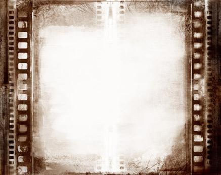发黄电影胶片边框怀旧背景素材高清