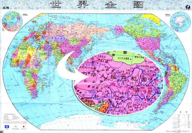 世界地图/世界全图超高清晰中文版图片素材下载 [中国