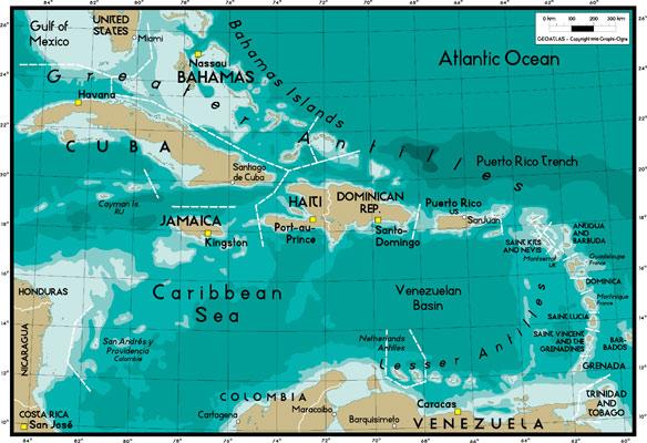 世界地图之安地列斯群岛地图高清图片素材下载