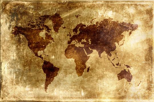 老旧的世界地图高清图片素材下载