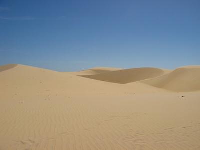 广漠荒凉的沙漠背景高清图片免费下载