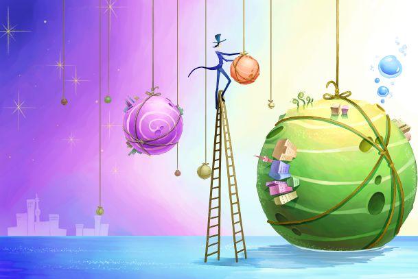 童话王国|梦幻2010年儿童相册背景psd素材免费下载15