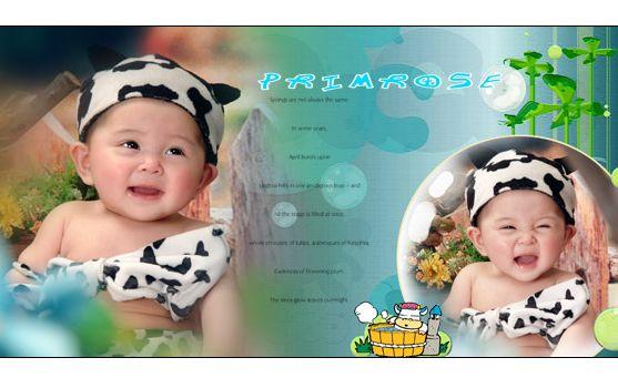 psd素材 影楼模板 宝宝样片 很可爱的一套阳光宝宝的写真psd素材,模板