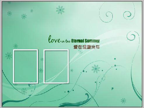 青涩爱情|2010年婚纱相册背景psd素材免费下载5