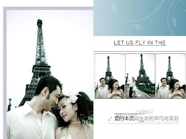 巴黎恋人系列欧式实景婚纱相册模板psd素材下载一(共10P) 本系列共10个模板,psd分层格式,全部可以免费下载,值得收藏。 PSD--Photoshop Document(PSD),是著名的Adobe公司的图像处理软件Photoshop的专用格式。这种格式可以存储Photoshop中所有的图层,通道、参考线、注解和颜色模式等信息。