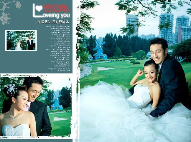图片素材559-婚纱摄影素材下载; 婚纱摄影模板; 巴黎恋人系列欧式实景