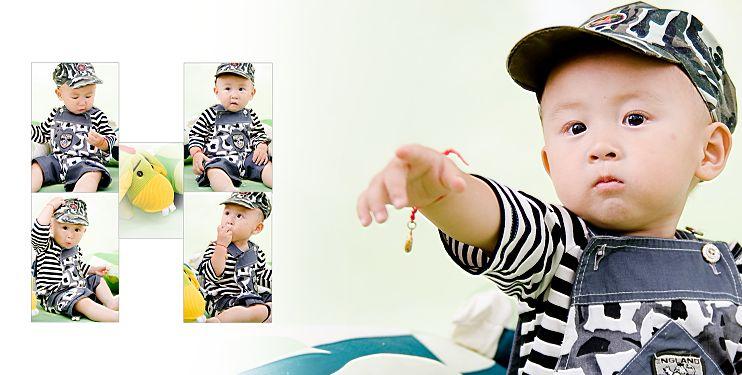 影楼宝宝样片精灵宝贝系列经典影楼儿童相册模板psd素材三 共10P
