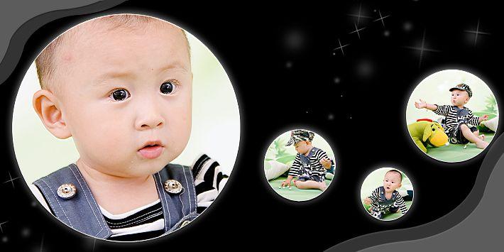 开心宝宝经典时尚影楼宝宝样片psd分层素材下载五 共10P