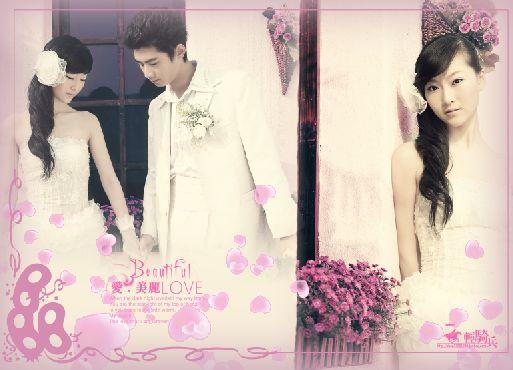 卡哇伊 2011年婚纱模板psd素材免费下载4
