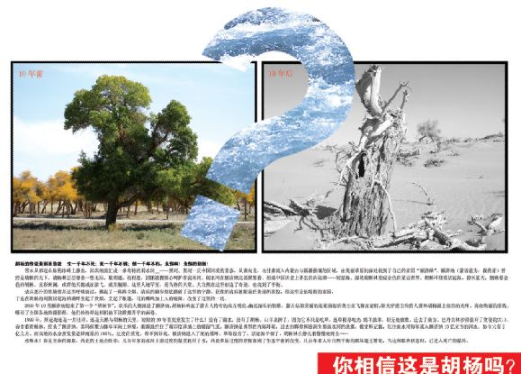 环保教育主题海报土地沙漠化问题展示环保教育海报模板